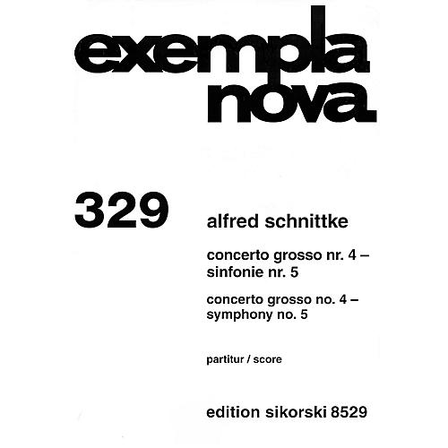 Sikorski Concerto Grosso No. 4 & Symphony No. 5 (Study Score) Study Score Series Composed by Alfred Schnittke-thumbnail