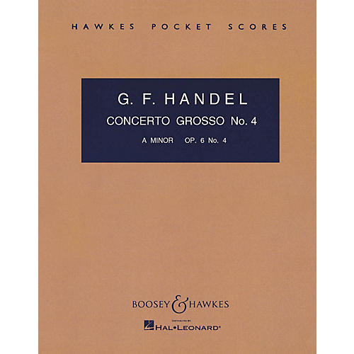 Boosey and Hawkes Concerto Grosso, Op. 6, No. 4 (in A minor) Boosey & Hawkes Scores/Books Series by George Friedrich Handel-thumbnail