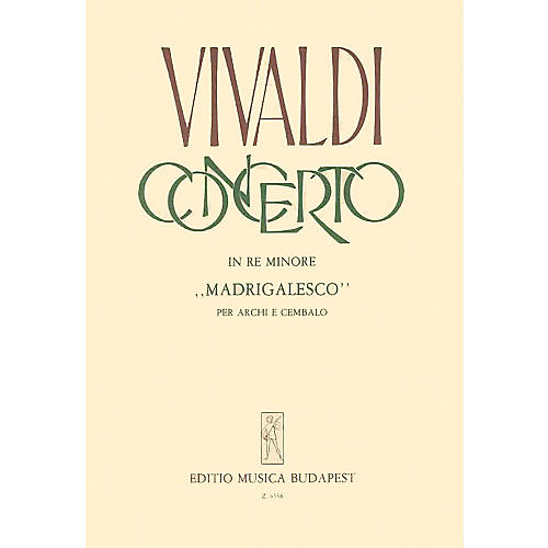 Editio Musica Budapest Concerto In Re Mionore  Madrigalesco EMB Series-thumbnail