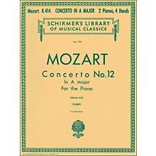 G. Schirmer Concerto No 12 A Major K414 2 Pianos 4 Hands Score By Mozart