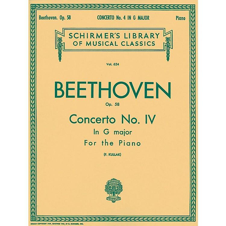 G. SchirmerConcerto No 4 In G Major Op 58 2 Pianos 4 Hands By Beethoven