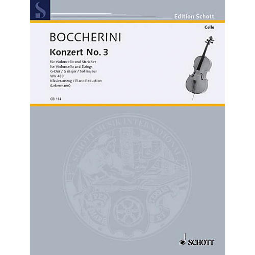 Schott Concerto No. 3 in G Major (Cello and Basso Continuo) Schott Series-thumbnail