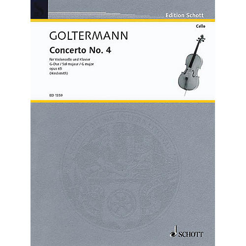 Schott Concerto No. 4 in G Major, Op. 65 Schott Series Composed by Georg Goltermann Arranged by Paul Hindemith-thumbnail
