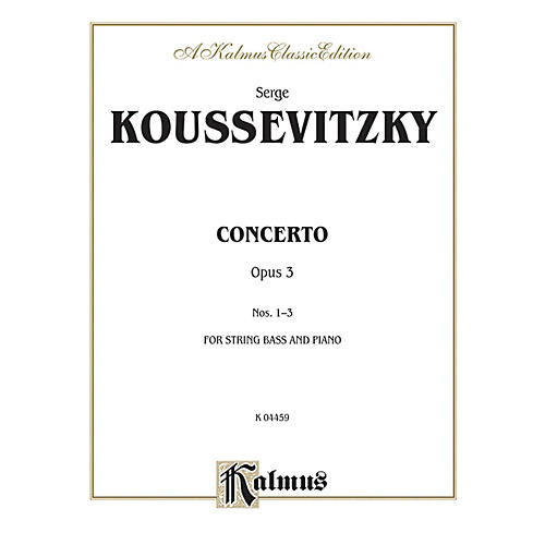 Alfred Concerto Op. 3 for String Bass By Serge Koussevitzky Book-thumbnail