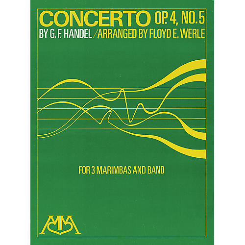 Hal Leonard Concerto Op. 4, No. 5 (for 3 Marimbas and Band) Concert Band Arranged by Floyd E. Werle-thumbnail