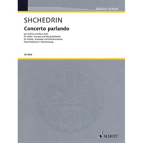 Schott Concerto Parlando Schott Series Composed by Rodion Shchedrin-thumbnail