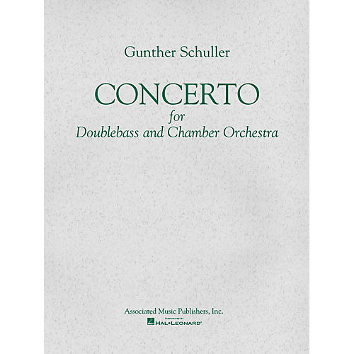 Associated Concerto (Score and Parts) String Solo Series Composed by Gunther Schuller-thumbnail