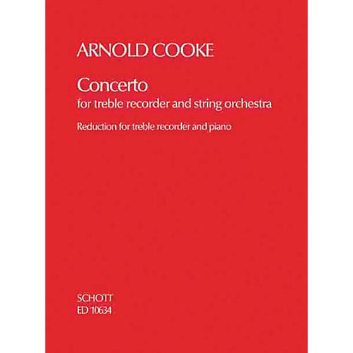 Schott Concerto (Treble Recorder and String Orchestra piano reduction) Schott Series