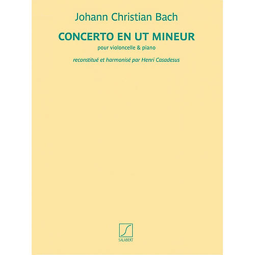 Salabert Concerto en ut mineur (for Cello and Piano) Salabert Series Softcover Composed by Johann Christian Bach-thumbnail
