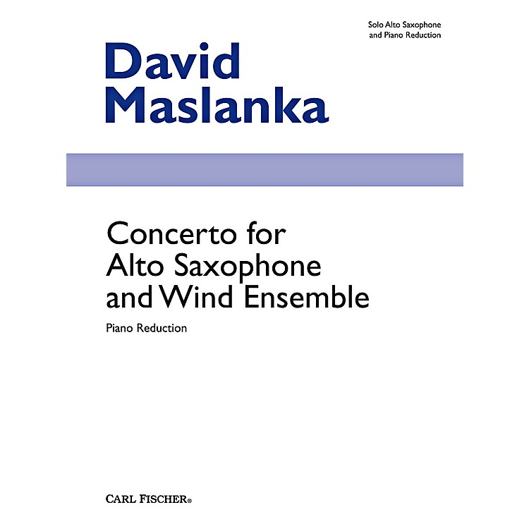 Carl Fischer Concerto for Alto Saxophone and Wind Ensemble (Book + Sheet Music)