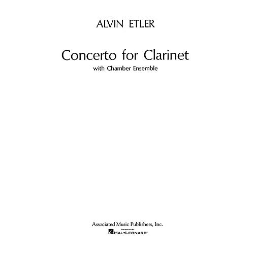 Associated Concerto for Clarinet and Chamber Ensemble (1962) (Full Score) Woodwind Solo Series by Alvin Etler-thumbnail