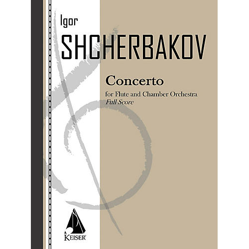 Lauren Keiser Music Publishing Concerto for Flute, Percussion and Strings LKM Music Series by Igor Shcherbakov