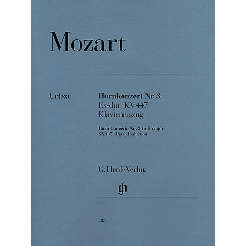 G. Henle Verlag Concerto for Horn and Orchestra No. 3 in E-Flat Major, K.447 Henle Music Folios Series Softcover-thumbnail