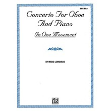 Alfred Concerto for Oboe and Piano In One Movement By Mario Lombardo Book