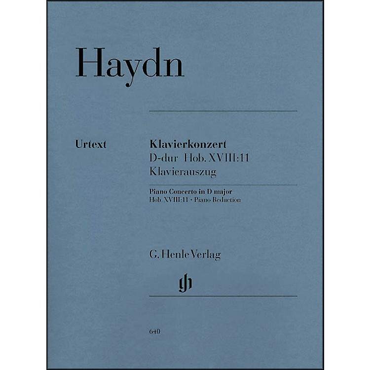 G. Henle VerlagConcerto for Piano (Harpsichord) and Orchestra D Major Hob.XVIII:11 By Haydn