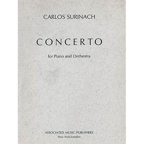 Associated Concerto for Piano and Orchestra (1973) (Full Score) Study Score Series Composed by Carlos Surinach