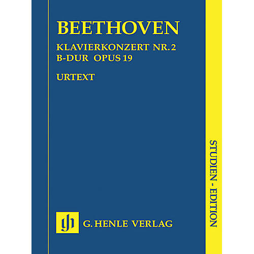 G. Henle Verlag Concerto for Piano and Orchestra B Flat Major Op. 19, No. 2 Henle Study Scores Series Softcover