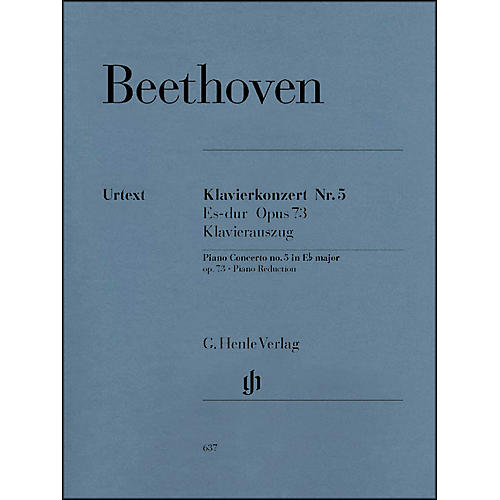 G. Henle Verlag Concerto for Piano and Orchestra E Flat Major Op. 73, No. 5 By Beethoven