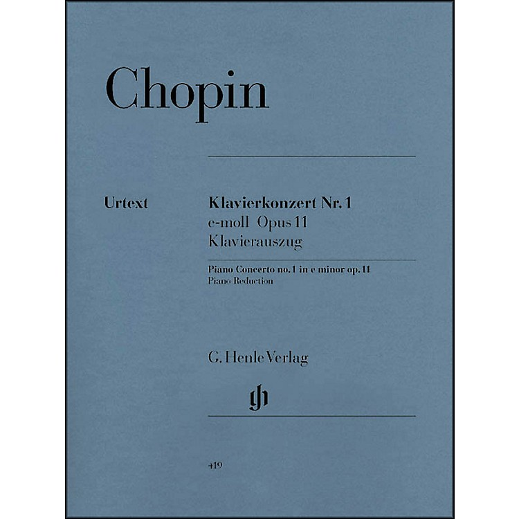 G. Henle Verlag Concerto for Piano and Orchestra E minor Op. 11, No. 1 By Chopin