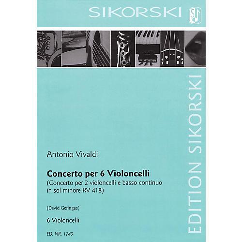 Sikorski Concerto for Six Violoncellos String Series Composed by Antonio Vivaldi Arranged by David Geringas-thumbnail