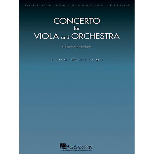 Hal Leonard Concerto for Viola and Orchestra John Williams Signature Edition - Strings Series by John Williams-thumbnail