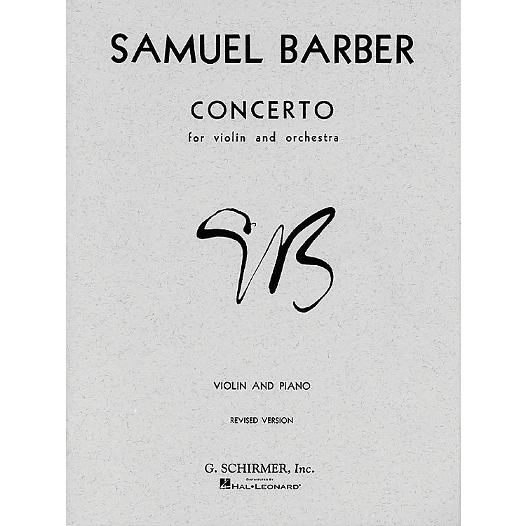 G. SchirmerConcerto for Violin Op 14 with Piano Reduction By Barber