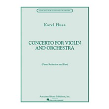 Associated Concerto for Violin and Orchestra String Series Composed by Karel Husa