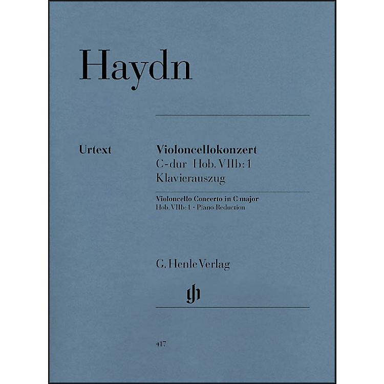 G. Henle VerlagConcerto for Violoncello and Orchestra C Major Hob.VIIb:1 By Haydn