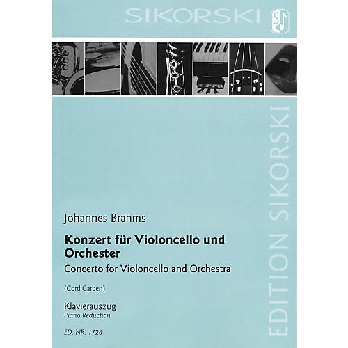 Sikorski Concerto for Violoncello and Orchestra (Cello and Piano Reduction) String Series by Johannes Brahms-thumbnail