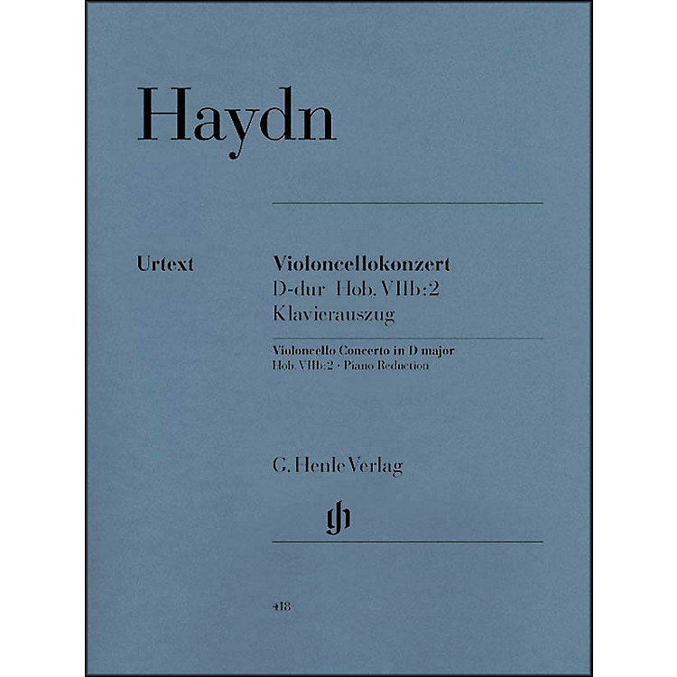 G. Henle VerlagConcerto for Violoncello and Orchestra D Major Hob.VIIb:2 By Haydn