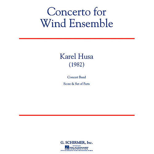 G. Schirmer Concerto for Wind Ensemble Concert Band Level 6 Composed by Karel Husa-thumbnail