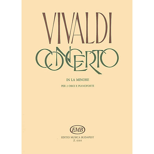 Editio Musica Budapest Concerto in A Minor for 2 Oboes, Strings and Continuo, RV 536 EMB Series by Antonio Vivaldi-thumbnail