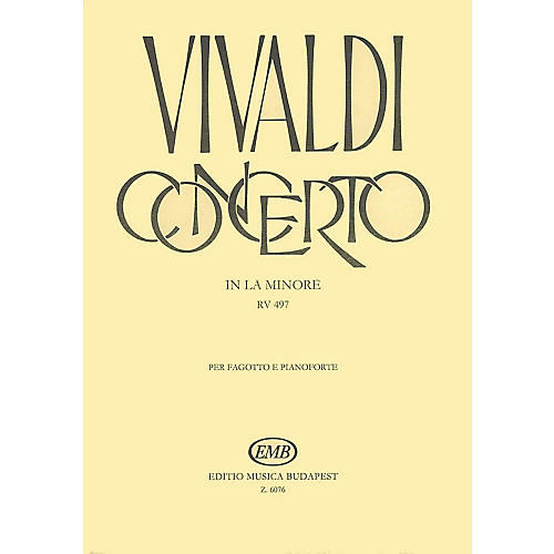 Editio Musica Budapest Concerto in A Minor for Bassoon, Strings and Continuo, RV497 EMB Series by Antonio Vivaldi-thumbnail