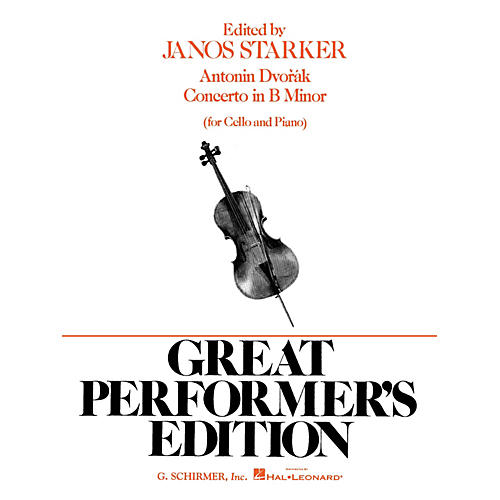 G. Schirmer Concerto in B Minor (Score and Parts) String Solo Series Composed by Antonín Dvorák Edited by J Starker-thumbnail