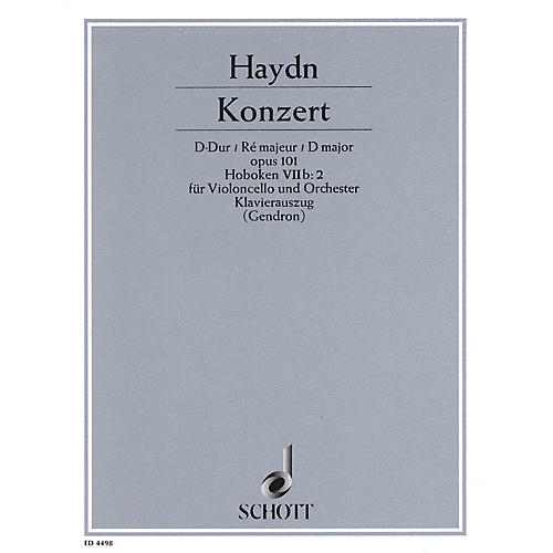 Schott Concerto in D Major, Op. 101 (Hob. 7b:2) Schott Composed by Joseph Haydn Arranged by Maurice Gendron-thumbnail