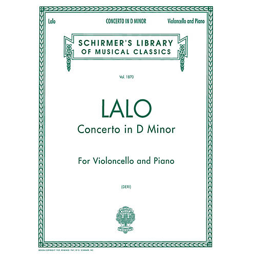 G. Schirmer Concerto in D Minor (Score and Parts) String Solo Series Composed by Édouard Lalo Edited by Otto Deri-thumbnail