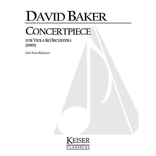Lauren Keiser Music Publishing Concertpiece (Viola with piano) LKM Music Series Composed by David Baker-thumbnail