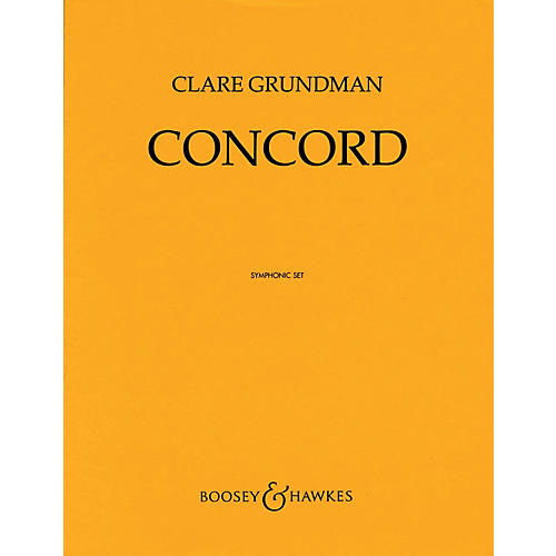 Boosey and Hawkes Concord (Score and Parts) Concert Band Level 4 Composed by Clare Grundman-thumbnail