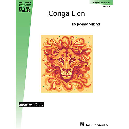 Hal Leonard Conga Lion Piano Library Series by Jeremy Siskind (Level Early Inter)-thumbnail