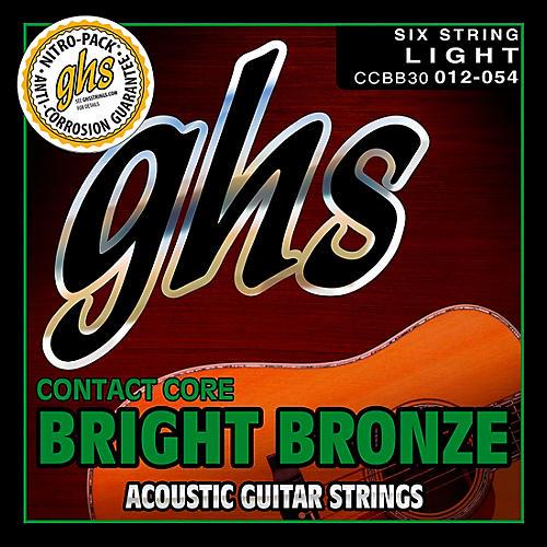 GHS Contact Core Bright Bronze Medium Acoustic Guitar Strings (12-54)-thumbnail