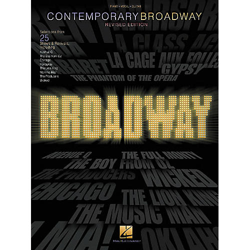 Hal Leonard Contemporary Broadway Piano/Vocal/Guitar Songbook-thumbnail