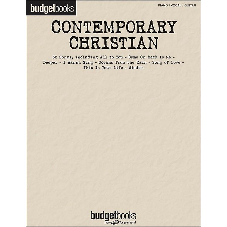 Hal LeonardContemporary Christian - Budget Books arranged for piano, vocal, and guitar (P/V/G)