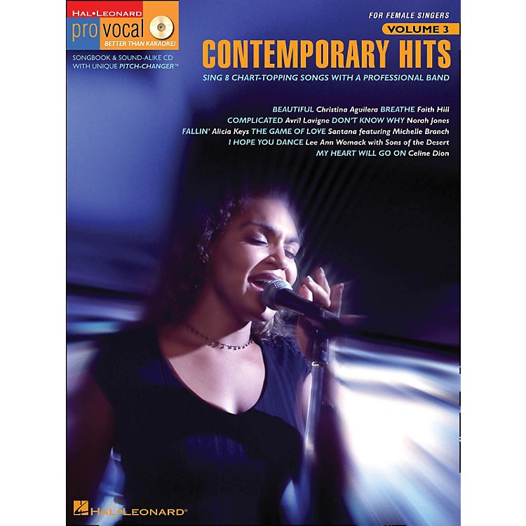 Hal Leonard Contemporary Hits - Pro Vocal Series for Female Singers Book/CD Volume 3