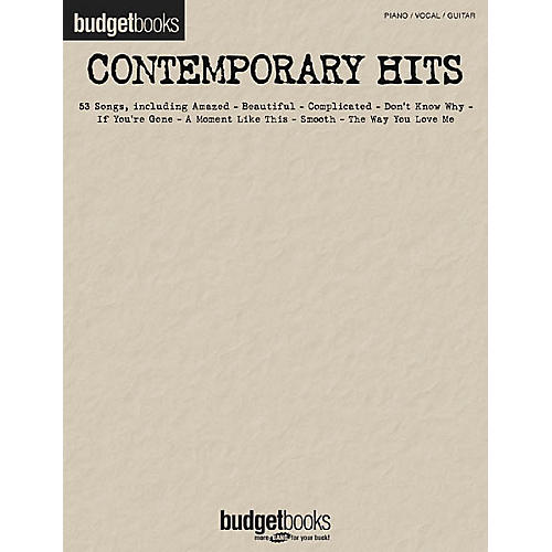 Hal Leonard Contemporary Hits Budget Books Piano/Vocal/Guitar Songbook-thumbnail