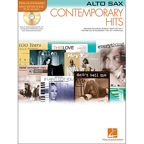 Hal Leonard Contemporary Hits for Alto Sax Book/CD Instrumental Play-Along-thumbnail