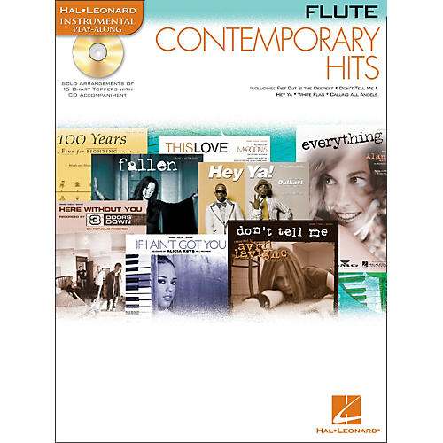 Hal Leonard Contemporary Hits for Flute Book/CD Instrumental Play-Along