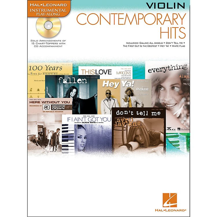 Hal Leonard Contemporary Hits for Violin Book/CD Instrumental Play-Along
