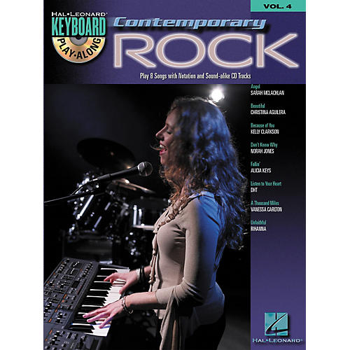 Hal Leonard Contemporary Rock Keyboard PlayAlong Volume 4 (Book/CD)-thumbnail