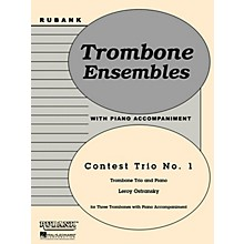 Rubank Publications Contest Trio No. 1 (Trombone Trio with Piano - Grade 3) Rubank Solo/Ensemble Sheet Series