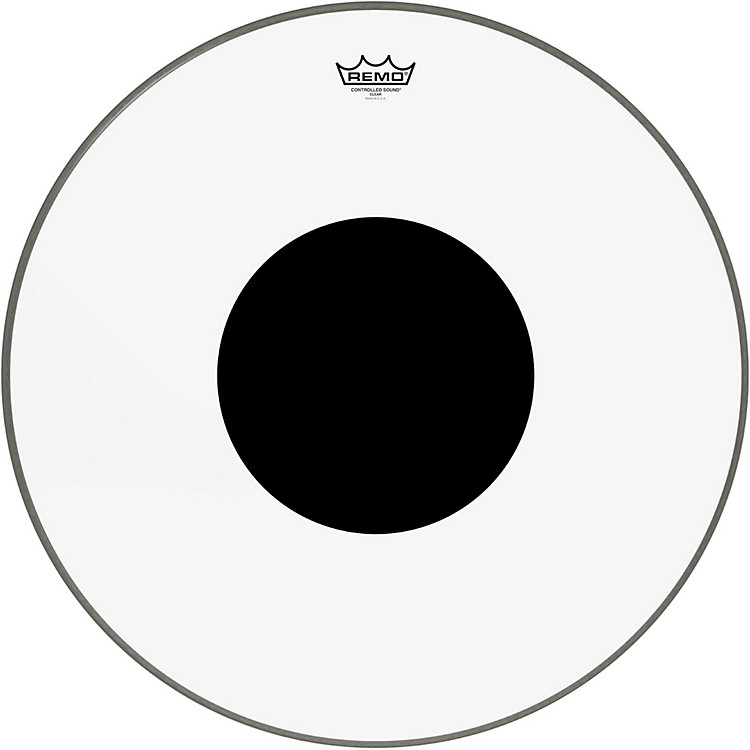 Remo Controlled Sound Clear with Black Dot Bass Drum  24 Inches